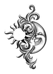214x300 Sun And Moon Together Art Sun And Moon Together Related Keywords