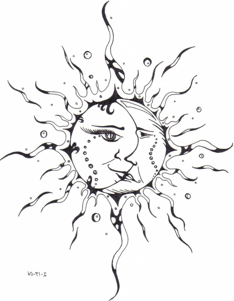 799x1024 Sun Tattoo Drawing At Getdrawings Free For Personal Use Sun