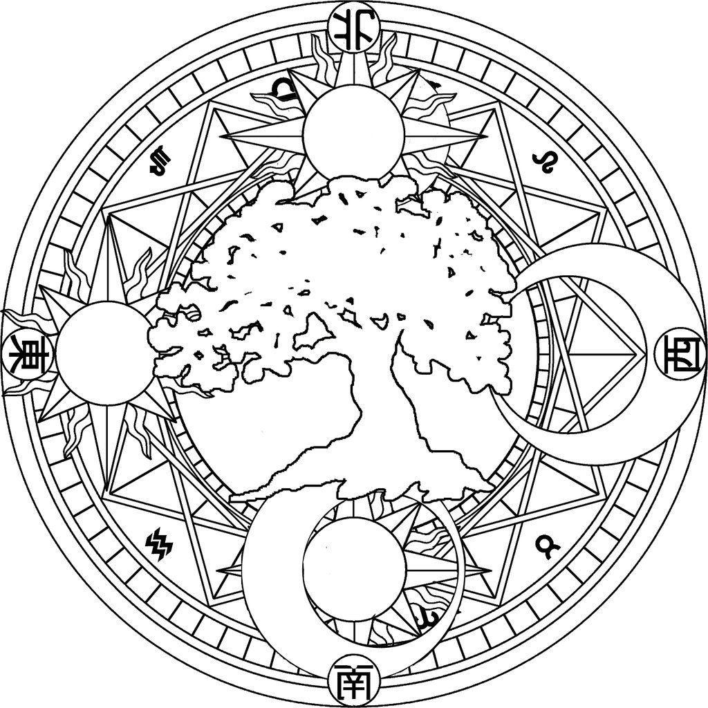 1024x1024 Celestial Sun And Moon Tumblr Coloring Pages Fine For Adults