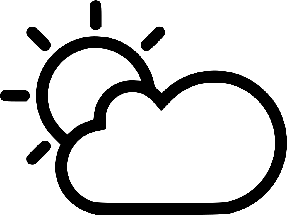 980x736 Sun Cloud Svg Png Icon Free Download ( 541703)
