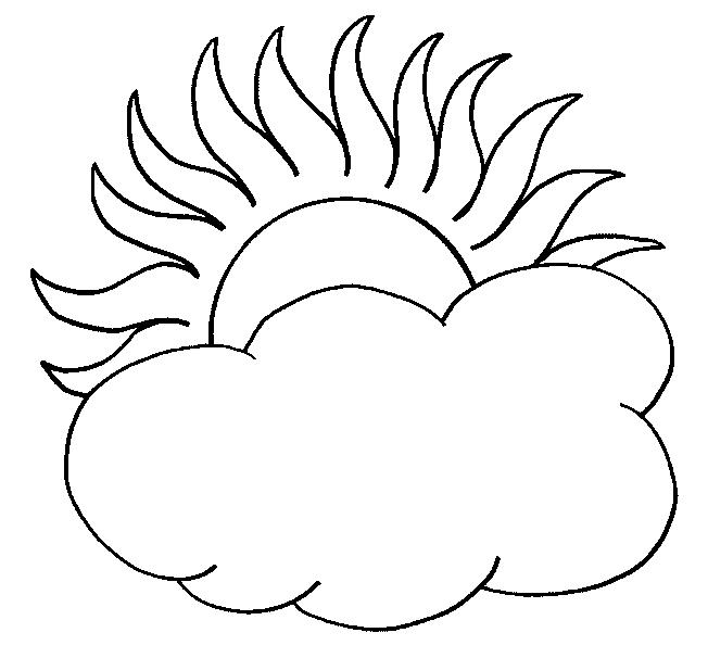 652x606 Sun And Cloud