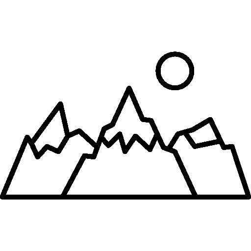 512x512 Nature, Mountain, Sun, Rural, Mount, Winter Icon