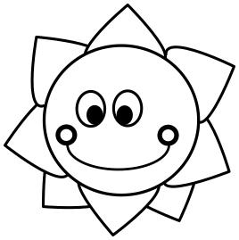 268x269 Sun Smiling Outline