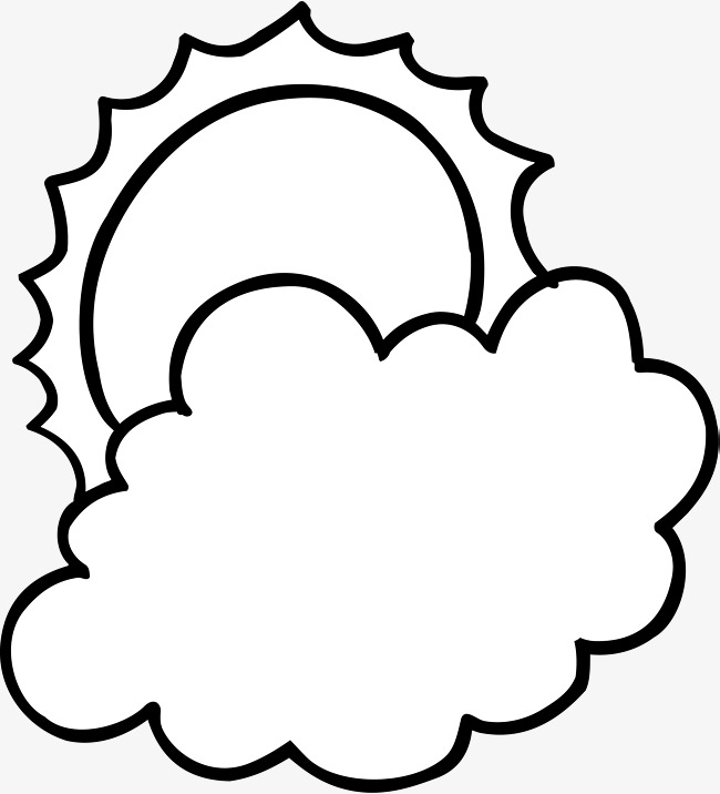 650x716 Clouds Simple Strokes, Sunlight, Flaky Clouds, Cartoon Sun Png