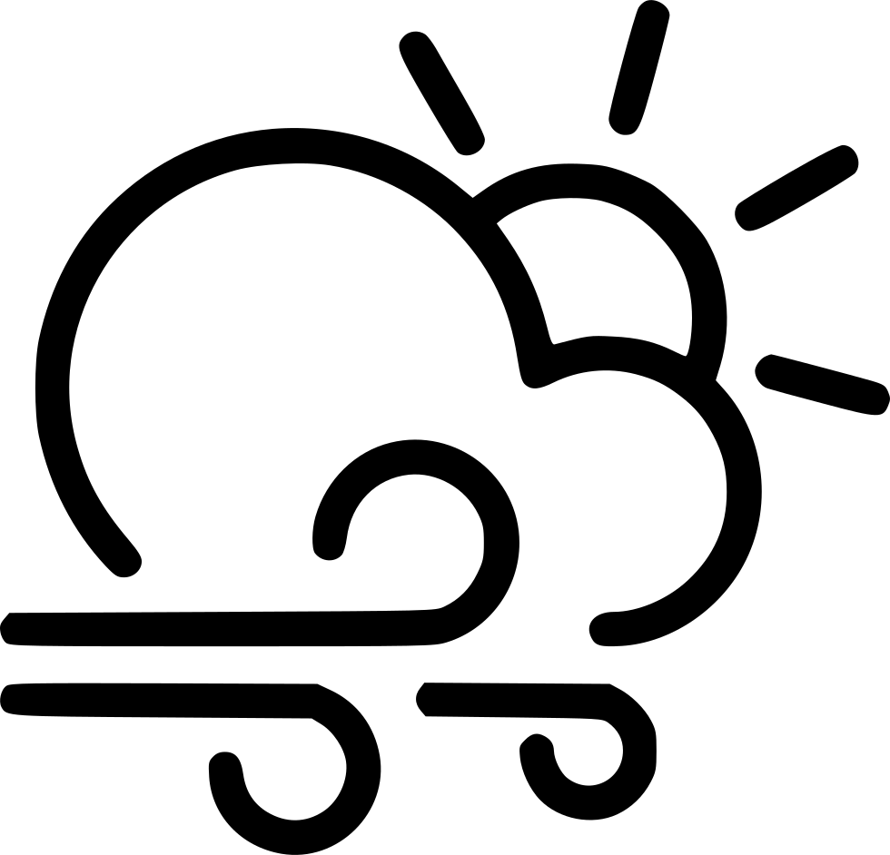 980x942 Day Gusts Cloud Wind Sun Svg Png Icon Free Download ( 540636