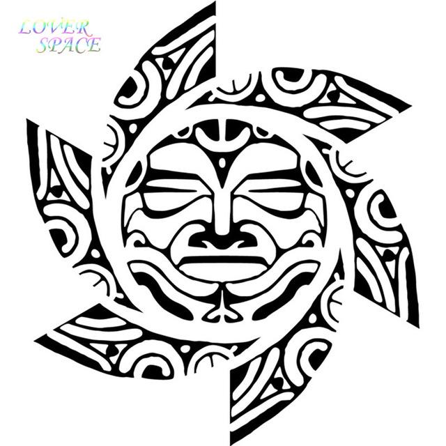 640x640 Free Shipping Tribal Sun Face Wall Sticker Tribal Wall Decal Art