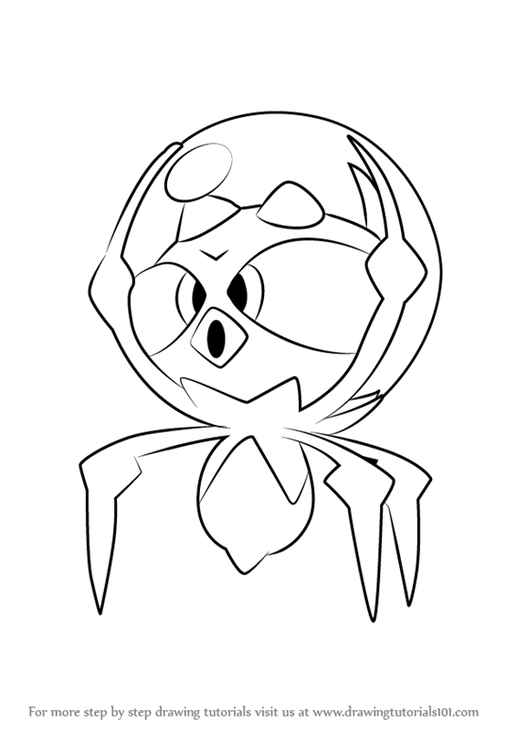 565x800 Learn How To Draw Dewpider From Pokemon Sun And Moon Sun