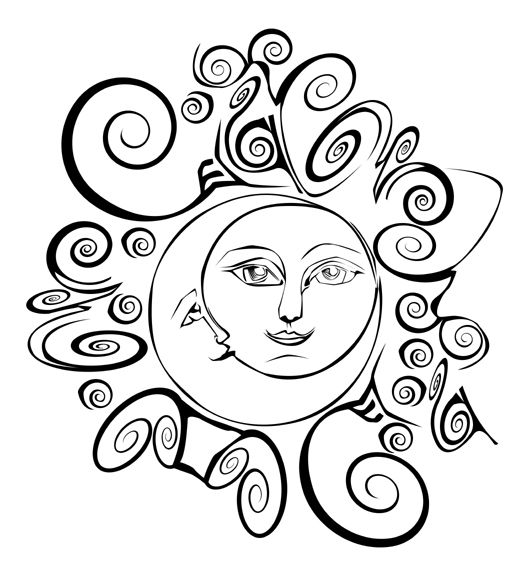 529x576 Moon And Sun As Lovers