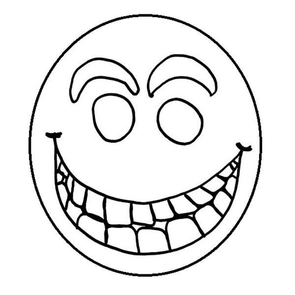 600x600 Sun Smiley Face Coloring Page