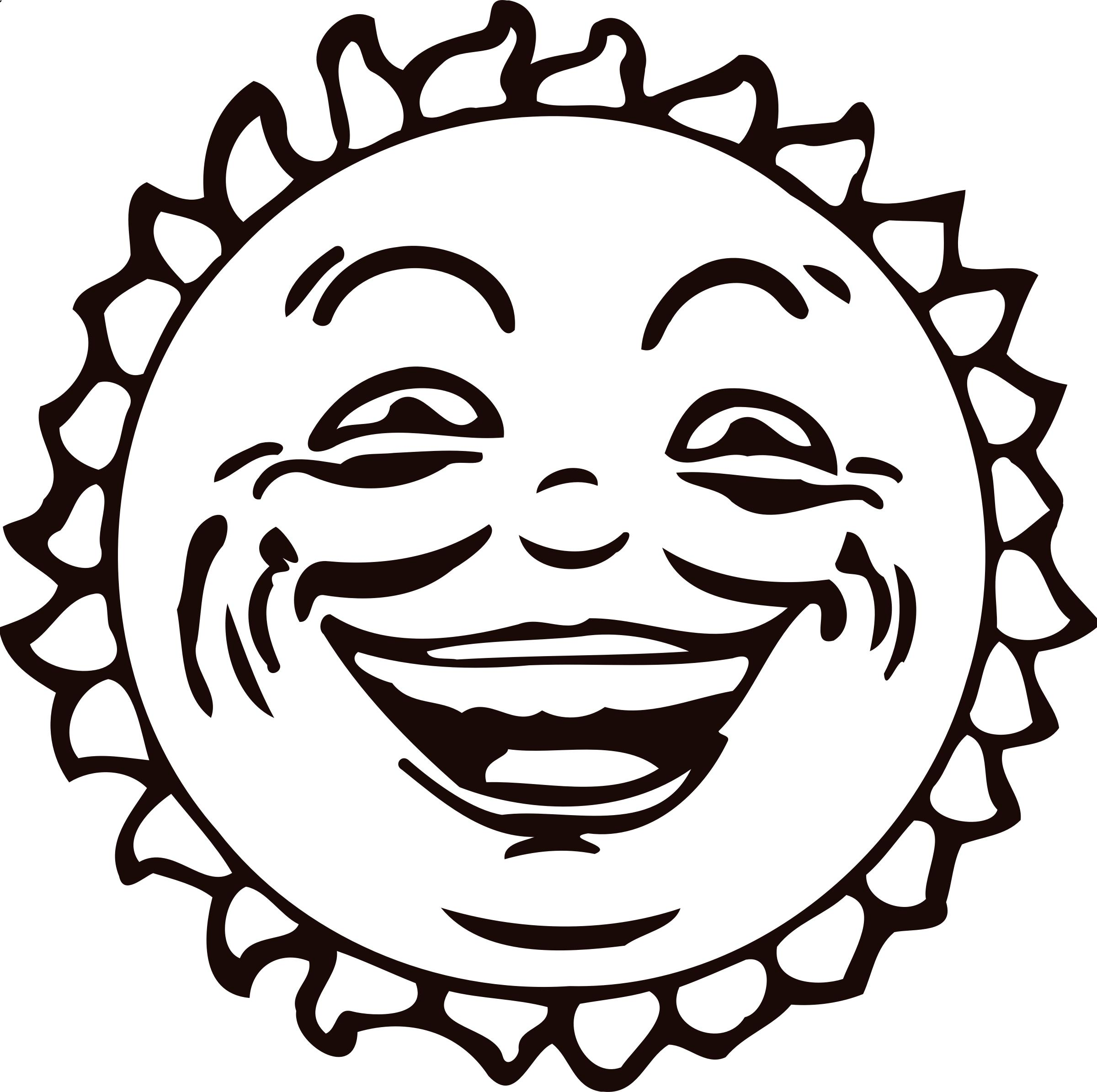 2400x2390 Sun Face 2 Icons Png