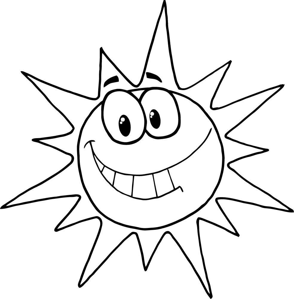 984x1002 Coloring Book Cartoon Sun Face Home Gt Sun Gt Coloring Page