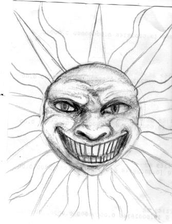 335x437 Demonic Sun Face I Meant To Make A Creepy Sun Face But