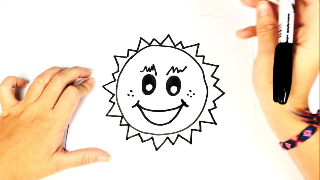 1280x720 How To Draw The Sun Easy Sun Drawing Lesson Tutorial
