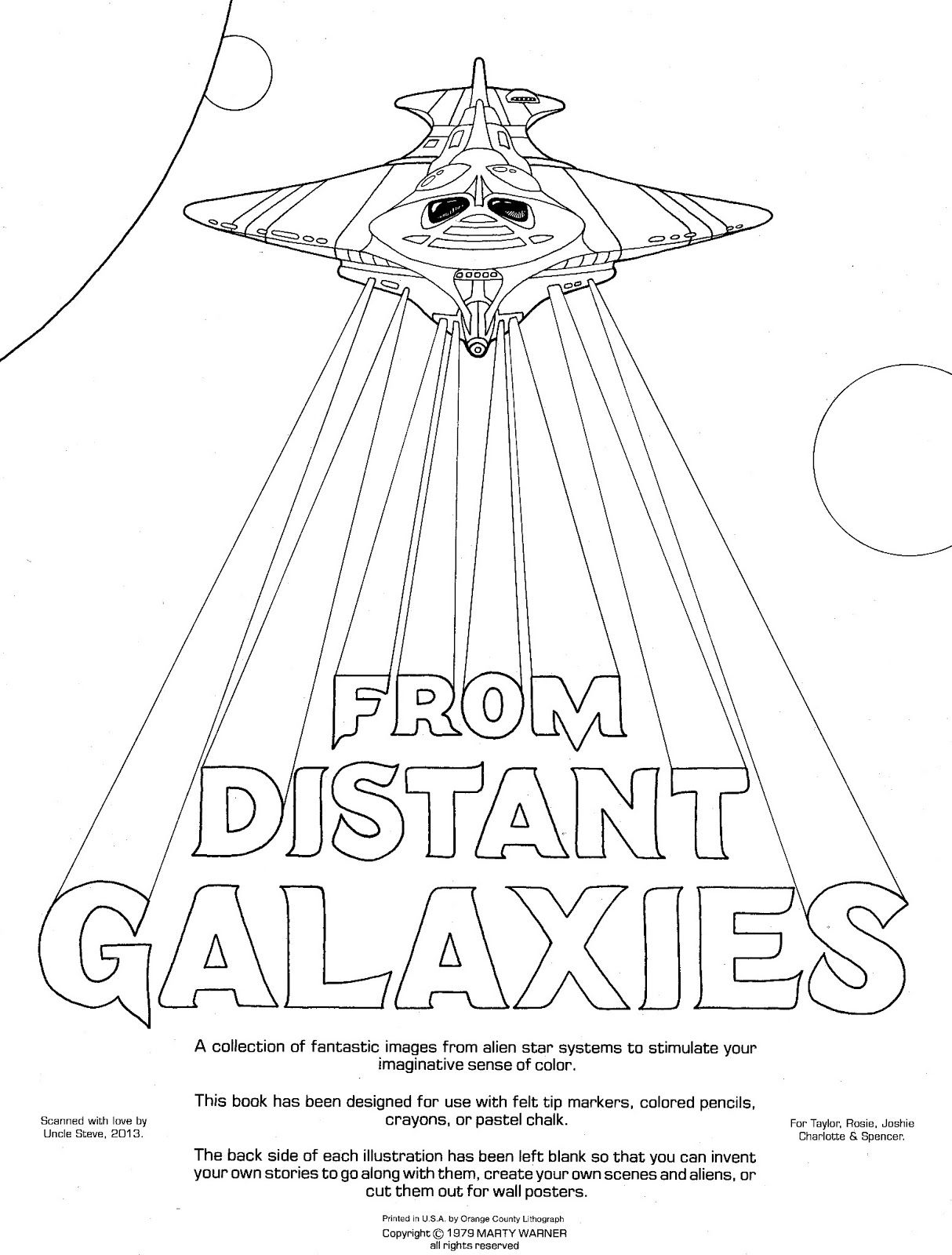1214x1600 Pin By Sky Walker On From Distant Galaxies Coloring Book By Marty
