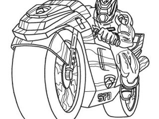 320x240 How To Draw Cool Motorcycles Power Rangers Spd On Super Cool