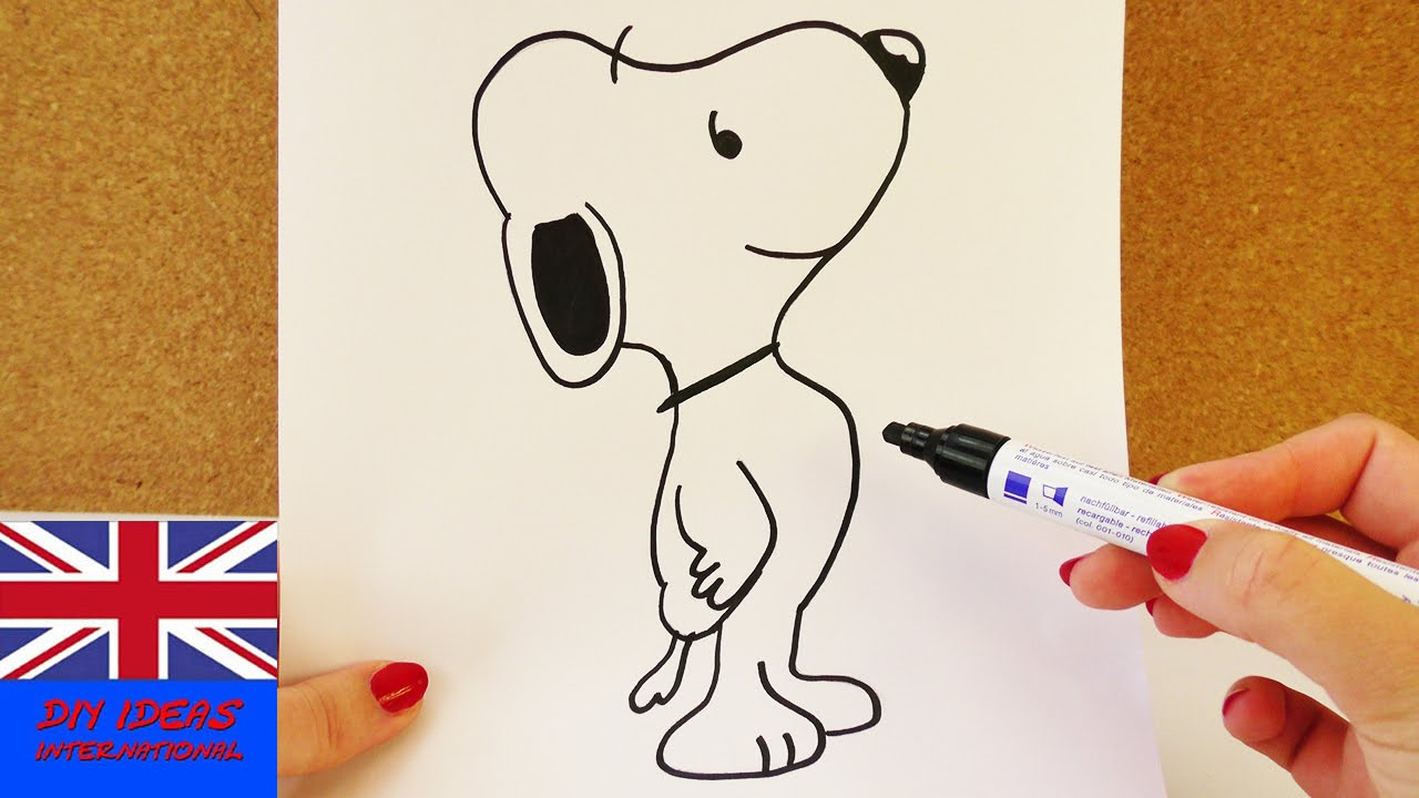 1280x720 Learn How To Draw Snoopy! Super Cool Dog From Charlie Brown