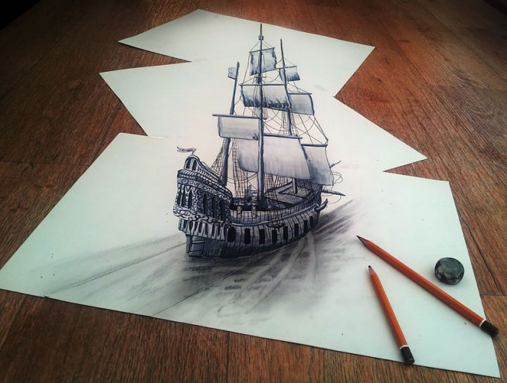 725x548 Super Cool Pencil Drawings That Look Like 3d