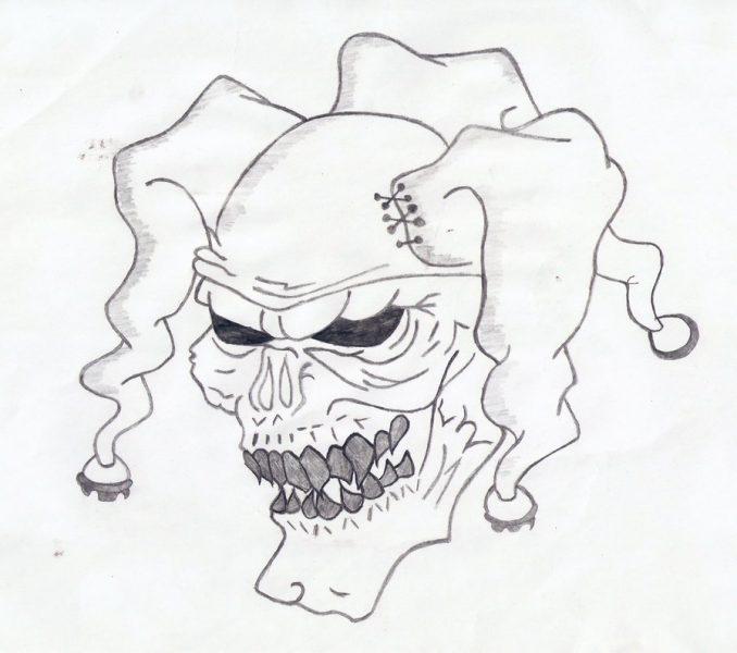 678x600 Cool Clown Drawings Cool Clown Drawing