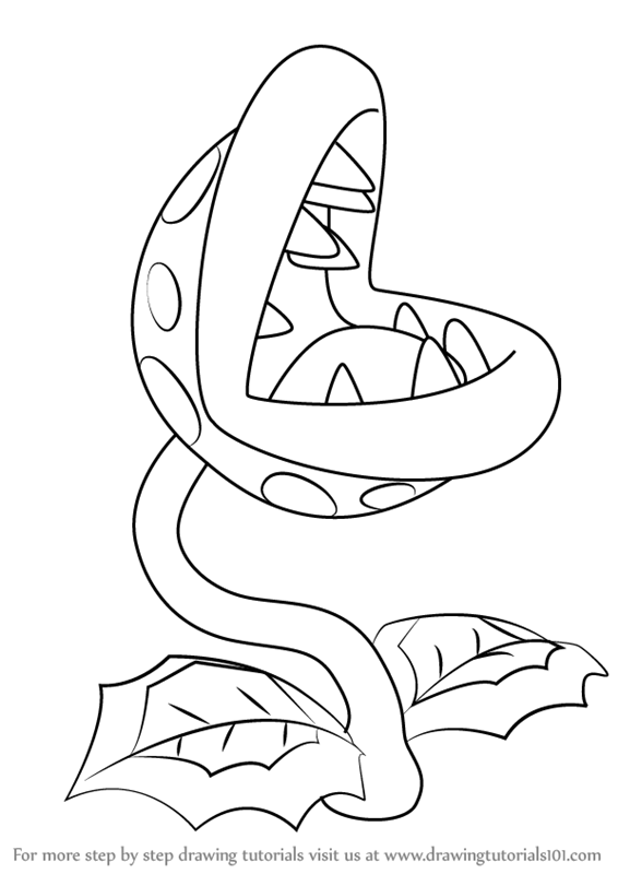 566x800 Learn How To Draw Piranha Plant From Super Mario (Super Mario