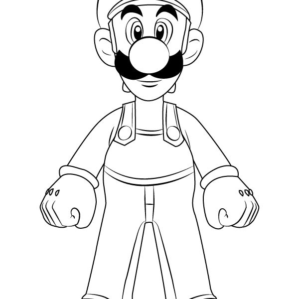 598x600 Mario And Luigi Drawing Coloring Pages Kids 2018