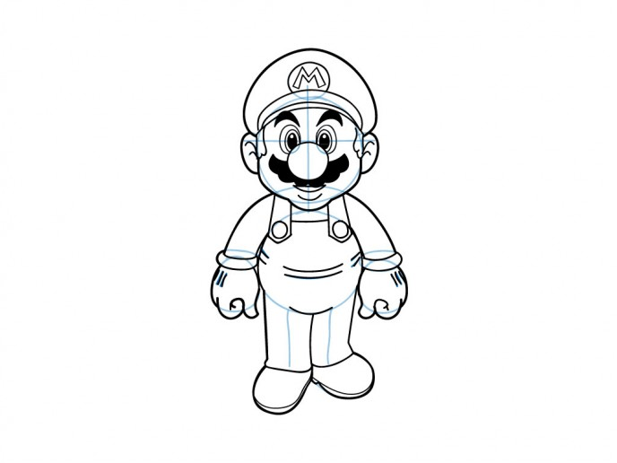 688x516 Collection Of Simple Mario Drawing High Quality, Free