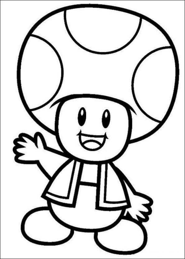 595x834 Coloring Page Super Mario Bros Kids N Fun Ludo