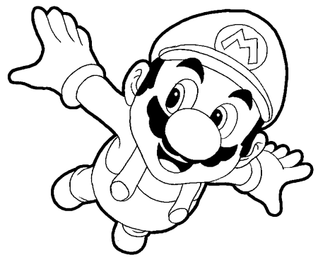 450x367 How To Draw Mario How To Draw Mario Flying From Super Mario Galaxy