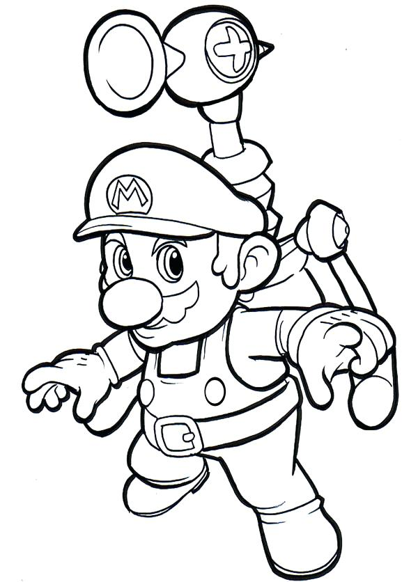 600x836 Free Super Mario Printables Together With Super Coloring Pages