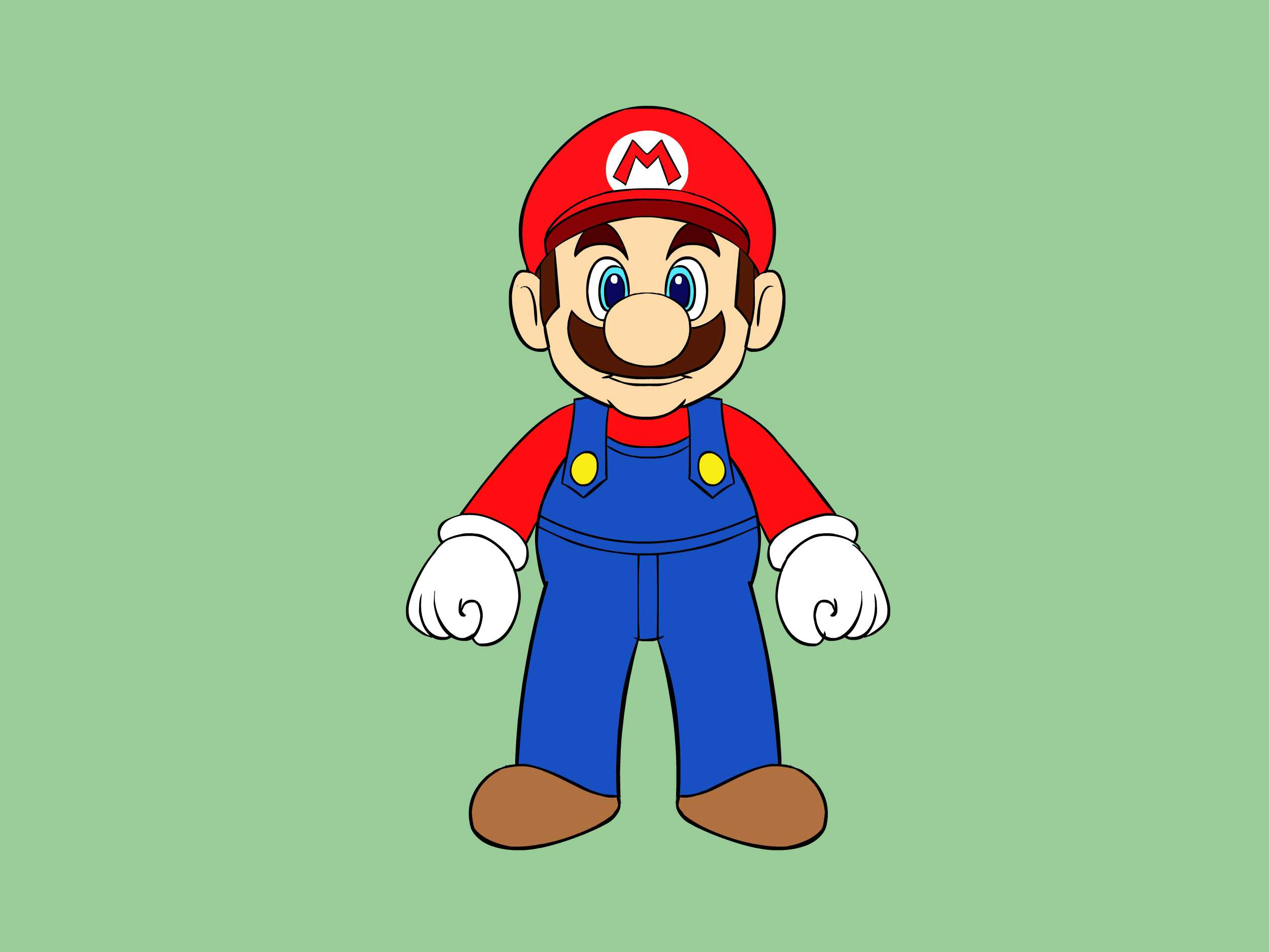 2500x1875 5 Ways To Draw Mario Characters