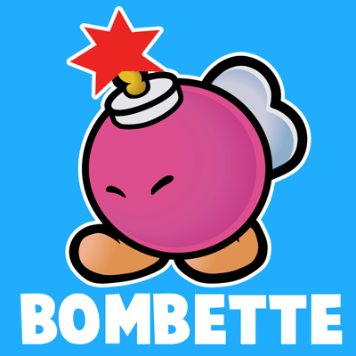 400x400 How To Draw Bombette From Nintendo's Super Mario Bros. With Easy