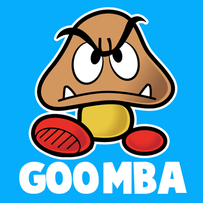400x400 How To Draw Goomba From Nintendo's Super Mario Bros. With Easy