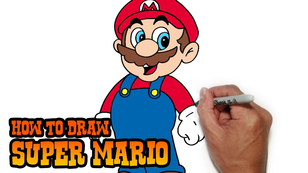 1280x720 How To Draw Super Mario Easy Drawings