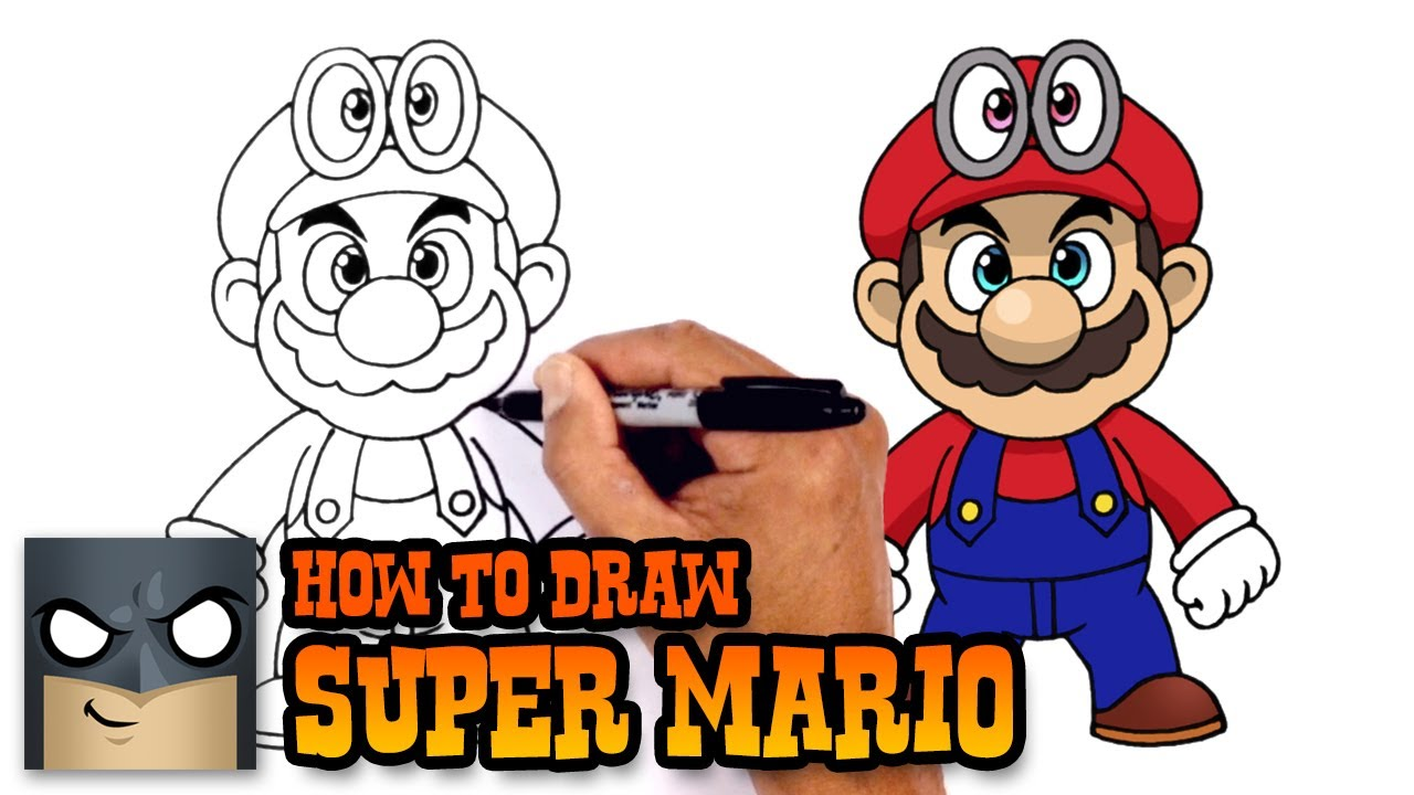 1280x720 How To Draw Super Mario Super Mario Odyssey