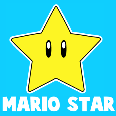 400x400 How To Draw The Star From Nintendo's Super Mario Bros. With Easy
