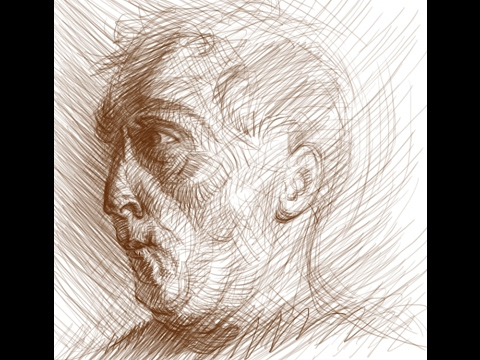 480x360 The Figure Sketchbook Head Study In Sustained Gesture