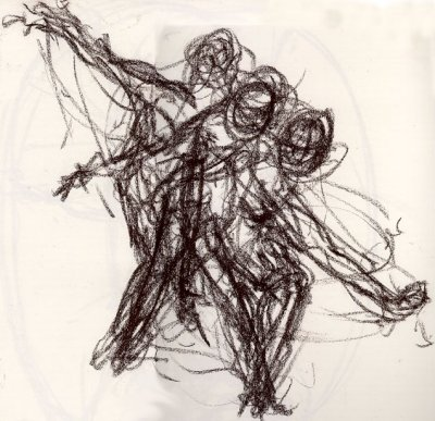 400x387 Week 2 Tuesday 31 Aug Sustained Gesture Drawings H Salma2010