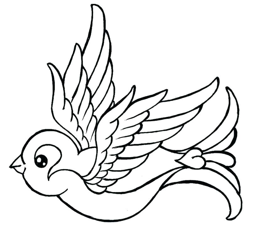 863x737 Sparrow Outline Tattoo Coloring Pages Sparrow Tattoo Drawings