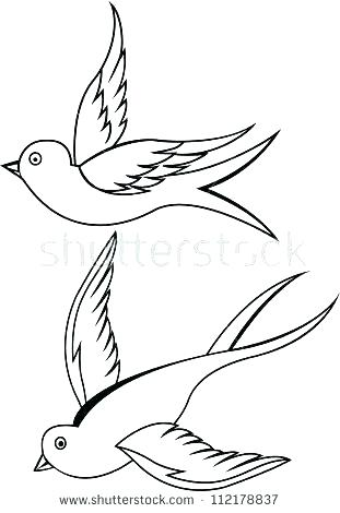 311x470 Sparrow Outline Tattoo Swallow Tattoo Outline By Sparrow Outline