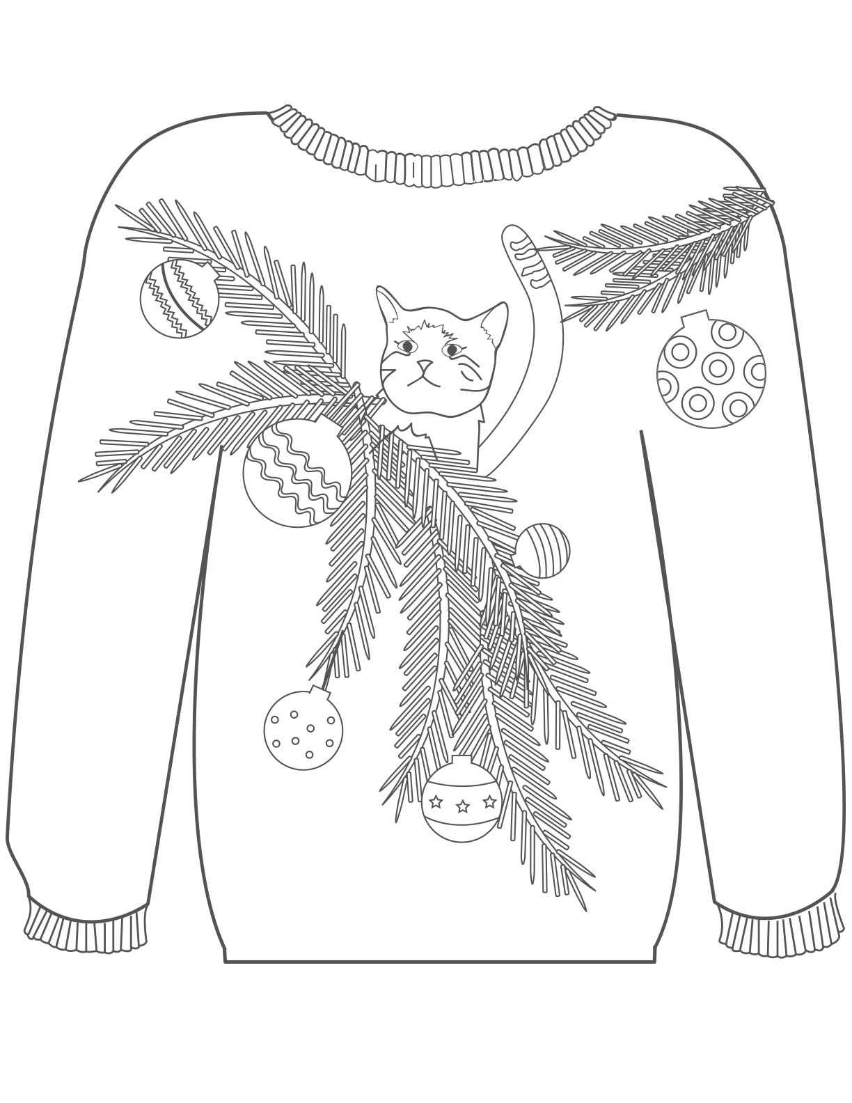 Sweater Technical Drawing