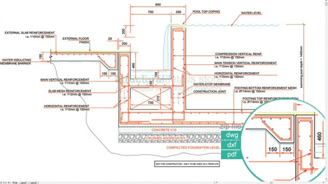 640x360 Download Sample Cad Drawing Of Infinity Type Swimming Pool