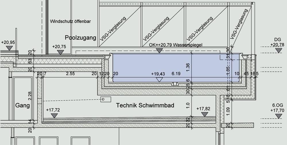 swimming pool drawing details pdf at
