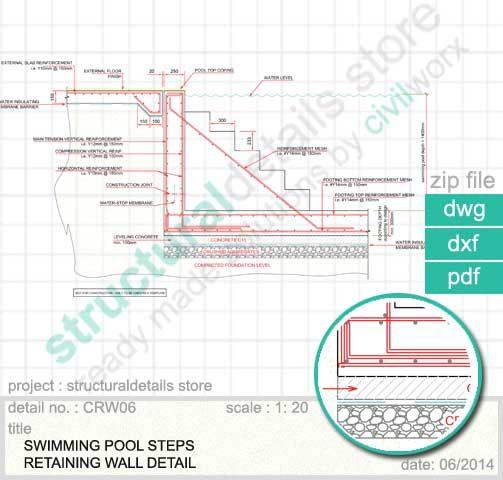 503x480 Swimming Pool Steps Retaining Wall Detail. Detail Of Standard