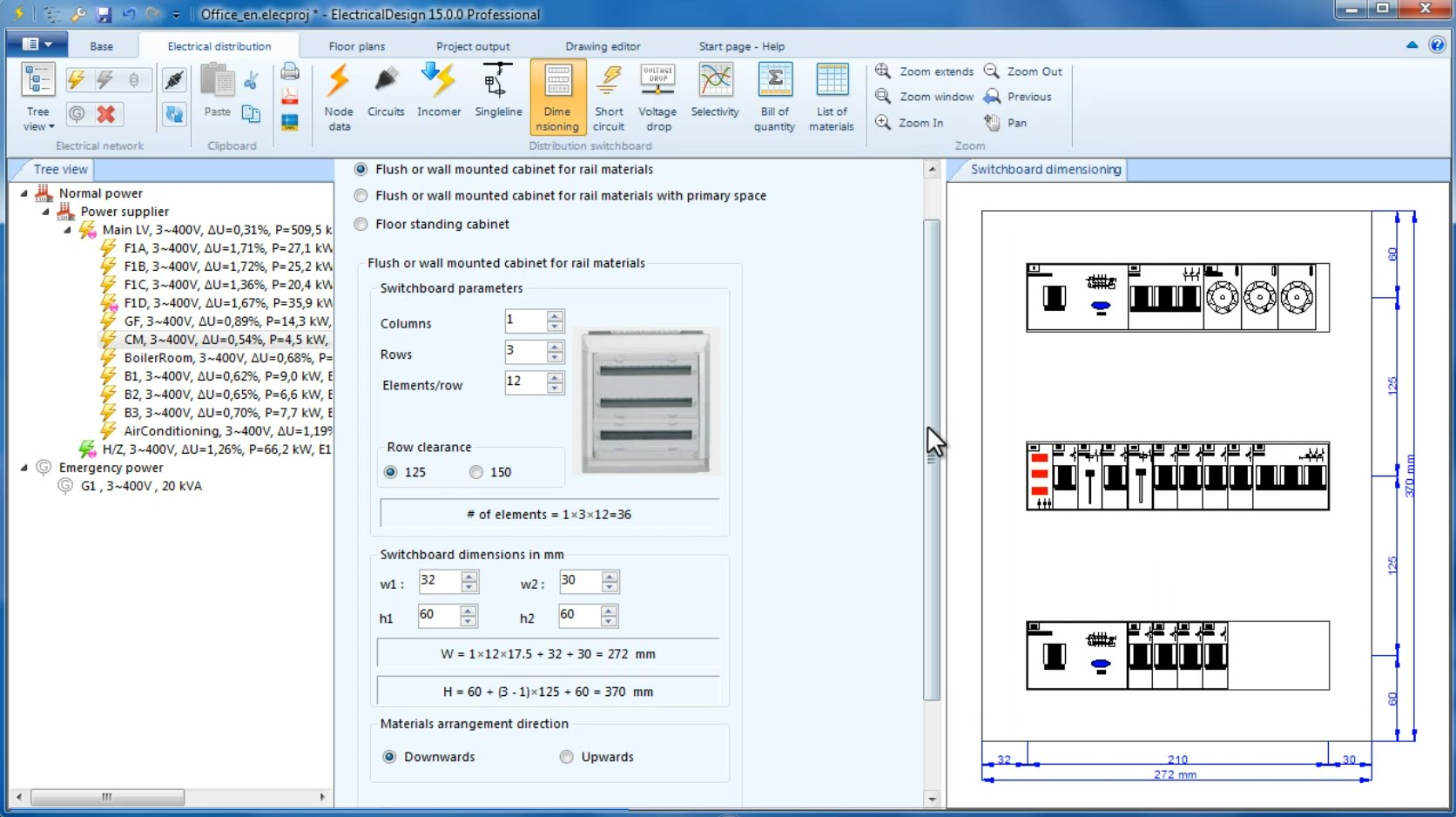 1672x938 Tisoft Electricaldesign, Switchboard Dimensioning Drawings (Layout