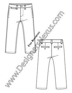 236x305 V28 Childrens T Shirt Template Flat Fashion Sketch