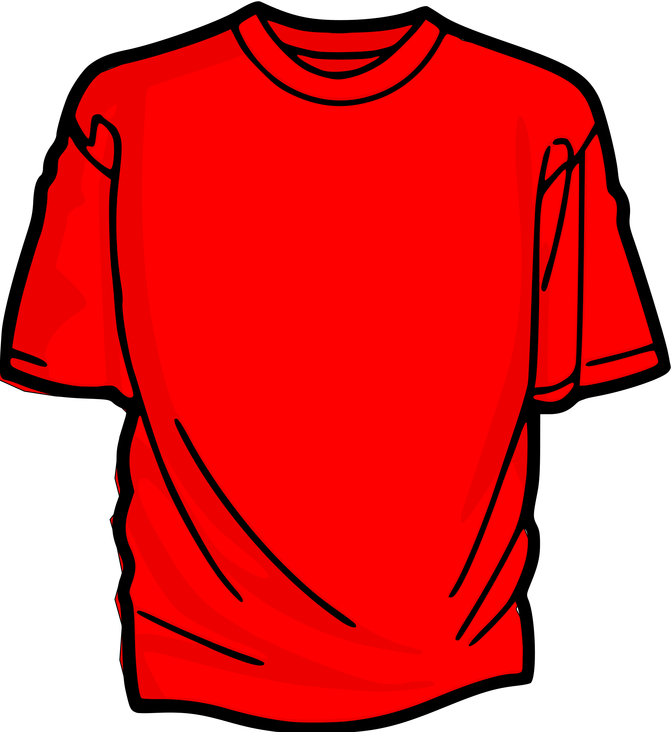 2201x2400 T Shirt Red Icons Png