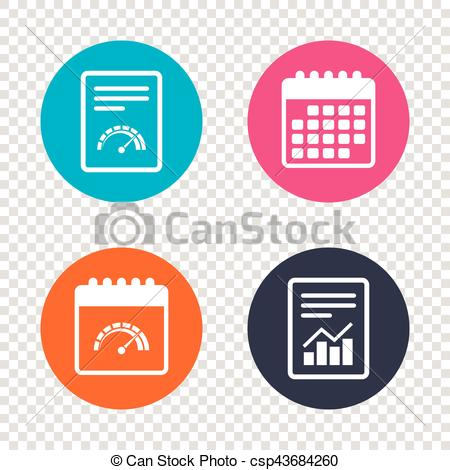 450x470 Report Document, Calendar Icons. Tachometer Sign Icon . Clip Art