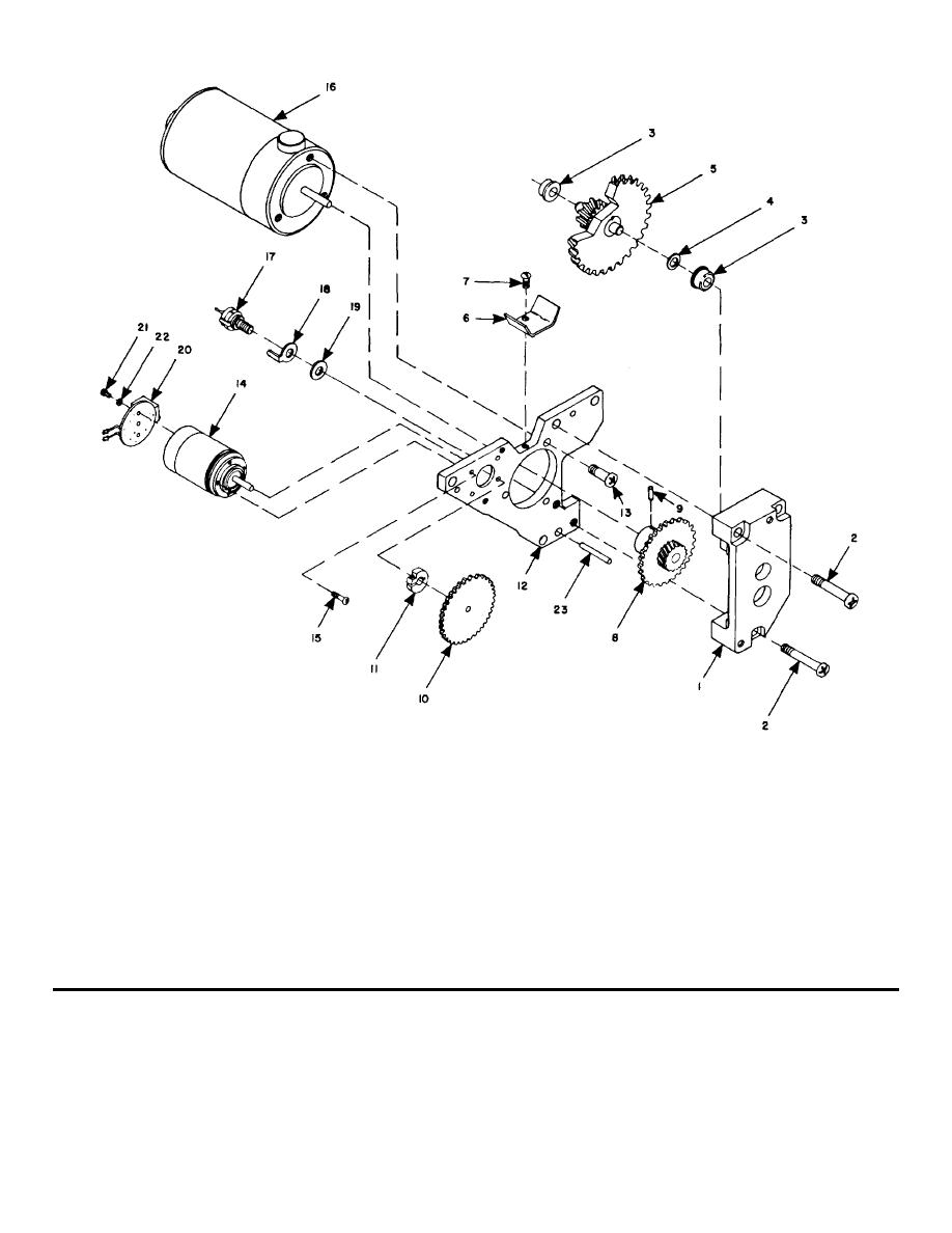 918x1188 Figure 3 7. Motor, Gear, And Tachometer Generator, Exploded View.