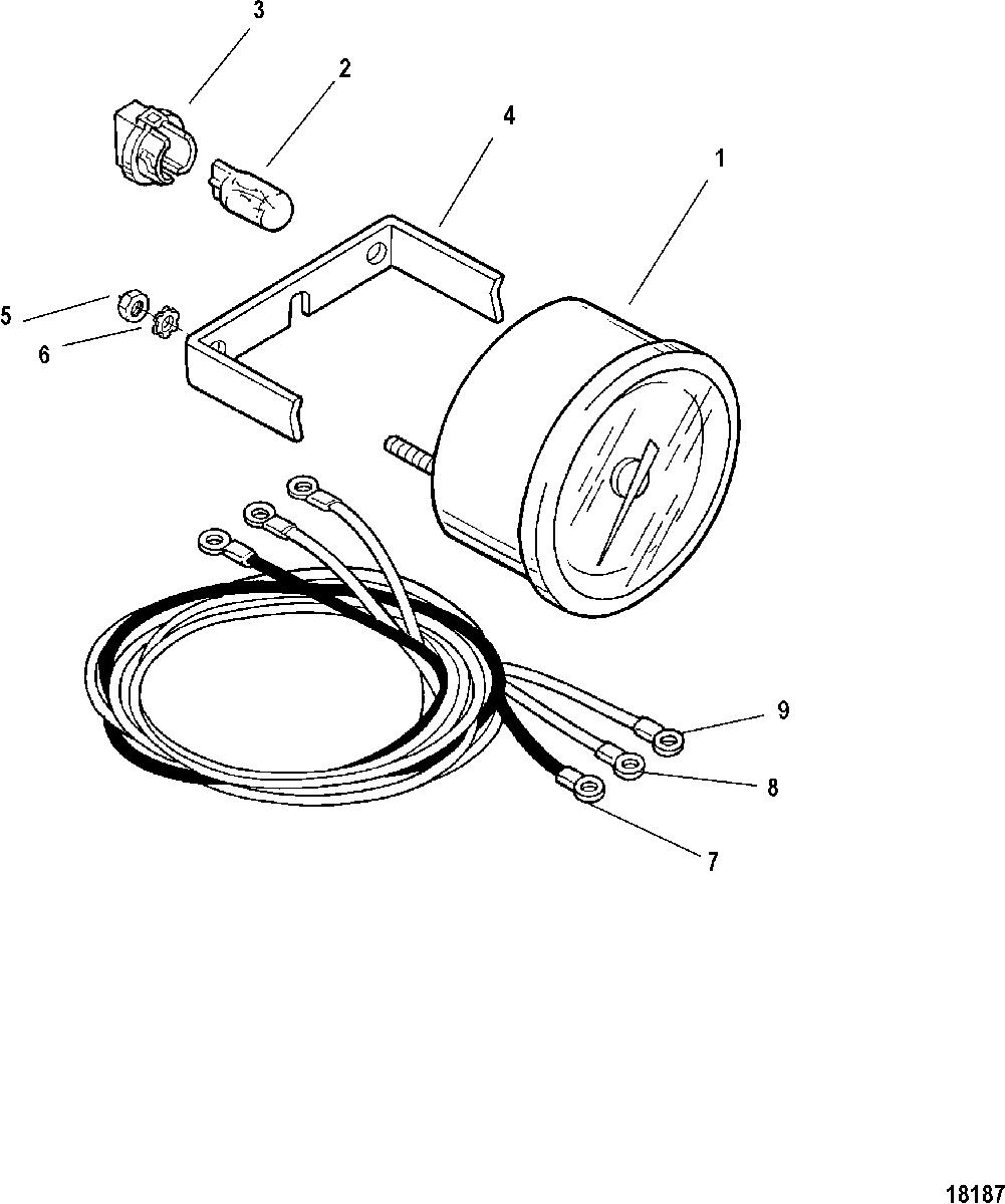 1001x1200 Gauge And Mounting Hardware, Tachometer