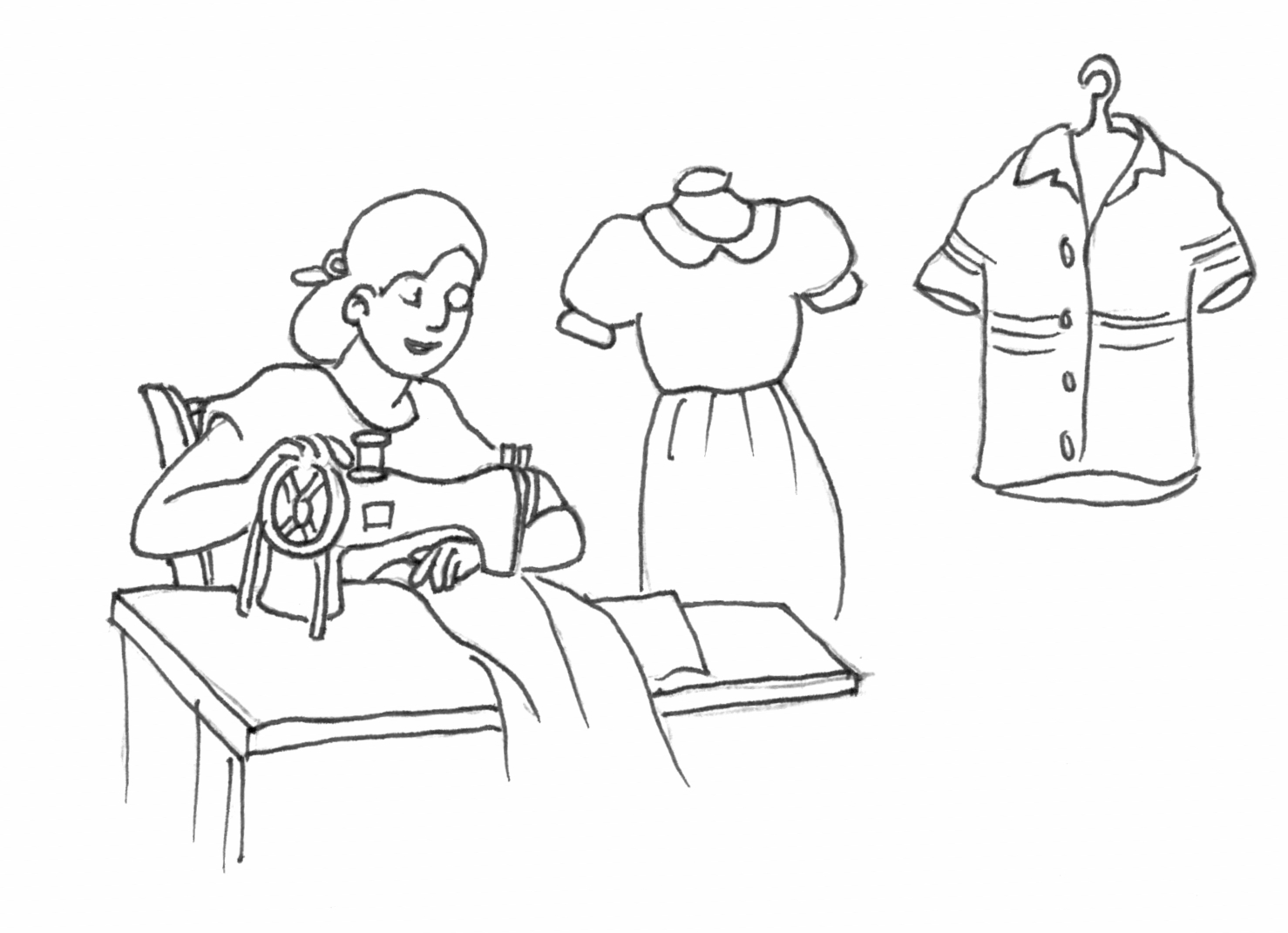 wordgirl coloring pages | Tailor Drawing at GetDrawings.com | Free for personal use ...