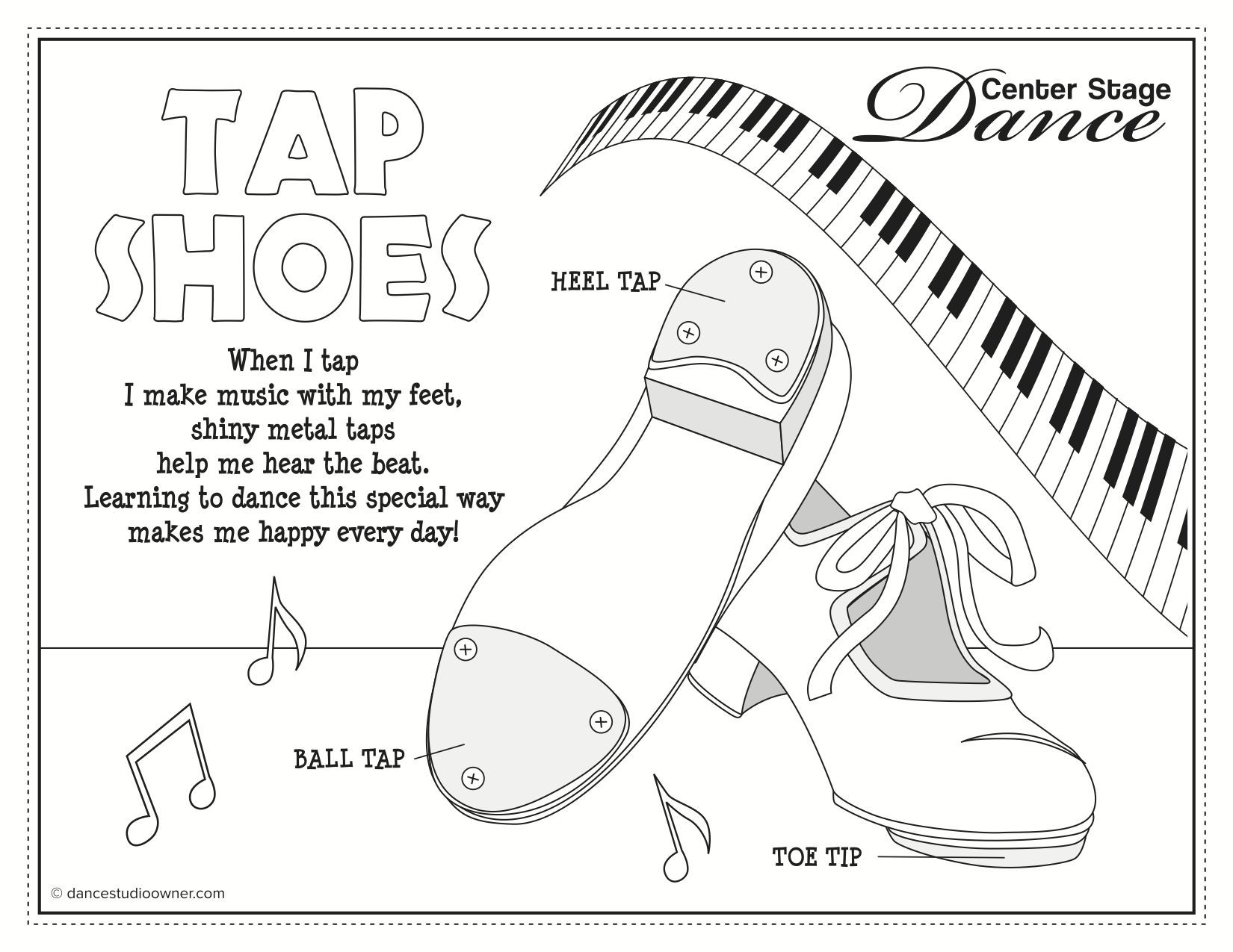 Tap Shoes Drawing